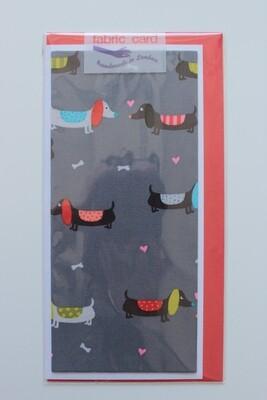 Fabric Card - Dachshund