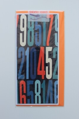 Fabric Card - Numbers
