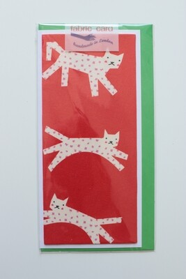 Fabric Card - Flying Cats