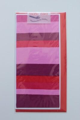 Fabric Card - Pink Stripes