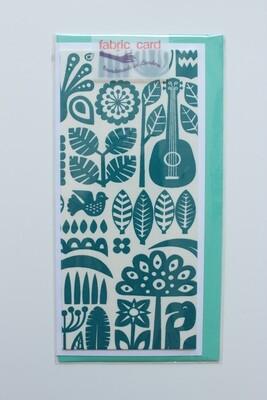 Fabric Card - Guitar