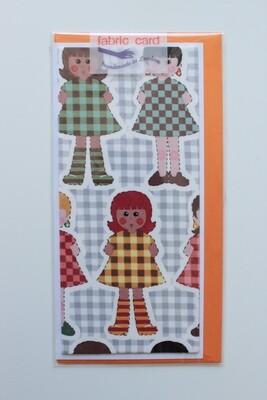 Fabric Card - Dolls