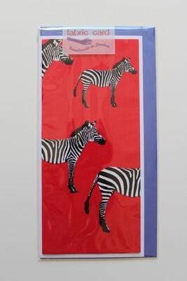Fabric card - Zebra