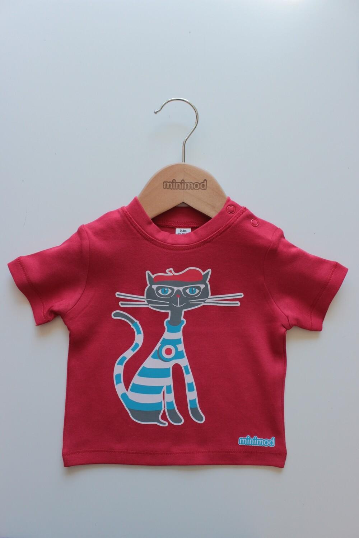 T Shirt - Cat / Red