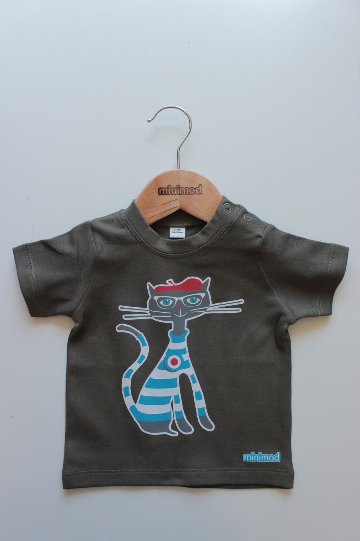 T Shirt - Cat / Khaki
