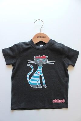 T Shirt - Cat / Grey