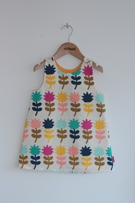 Classic Minimod Reversible Dress - Floral Stem