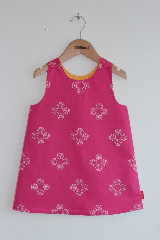 Classic Minimod Reversible Dress - Pink Jewels