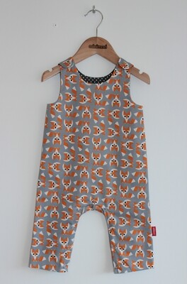 Playsuit - Foxes in Grey