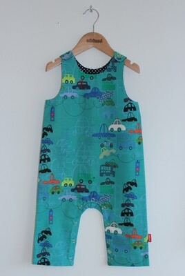 Playsuit - Teal Automobiles
