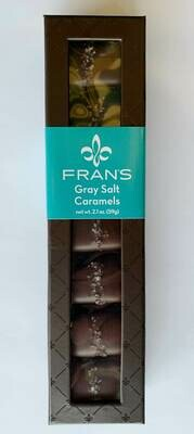 Fran's Gray Salt Caramels 7pc Window