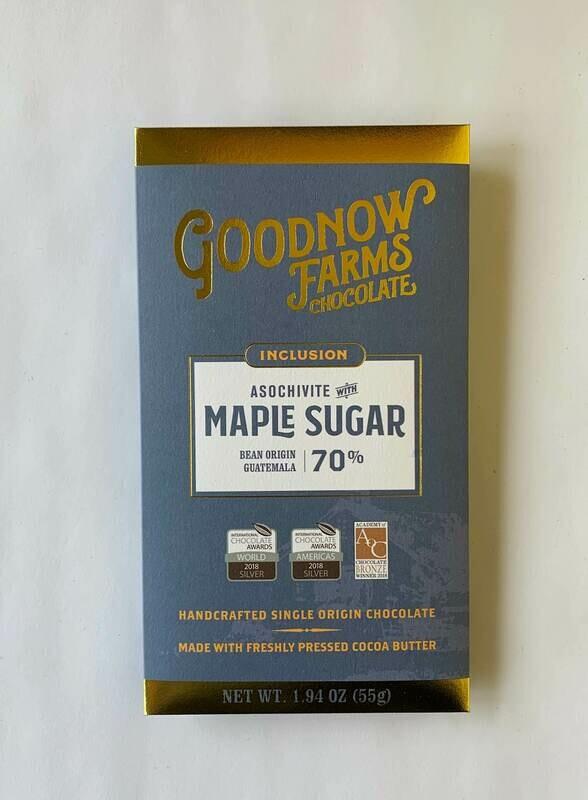 Goodnow Farms  Maple Sugar Dark Chocolate Bar