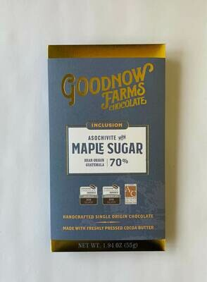 Goodnow Farms  Maple Sugar Dark Chocolate Bar