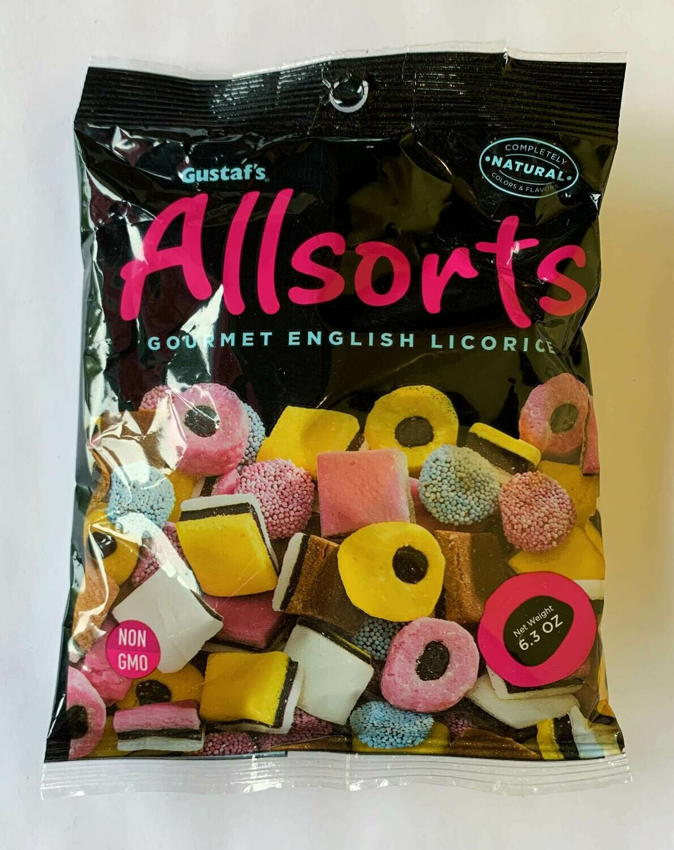 Gustaf's Allsorts Gourmet English Licorice Bag