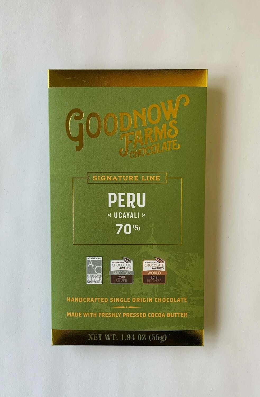 Goodnow Farms Peru Dark Chocolate Bar