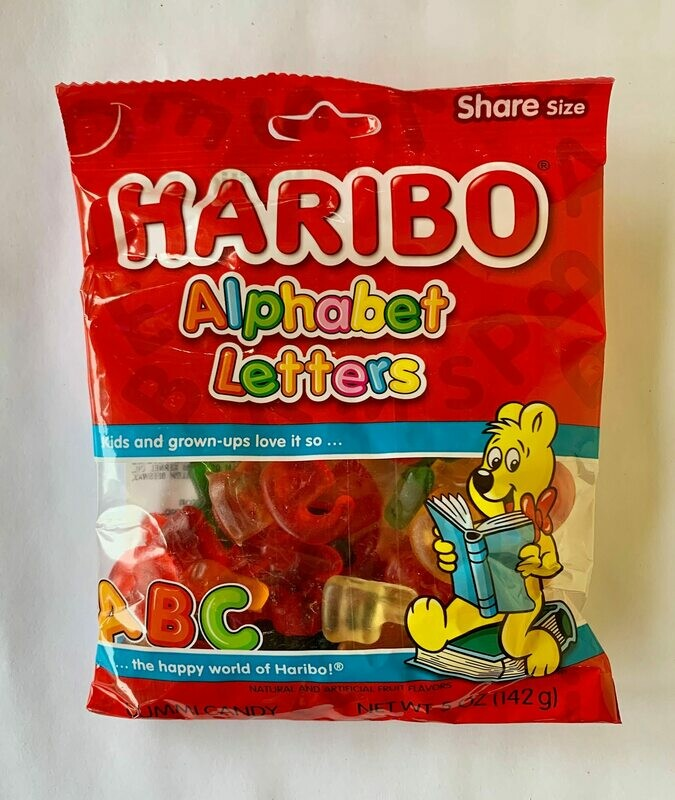 Haribo Alphabet Letters