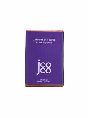 Jcoco Black Fig Pistachio Dark Chocolate Bar