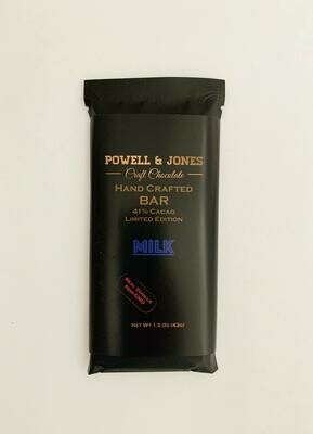 Powell and Jones Milk Chocolate Bar