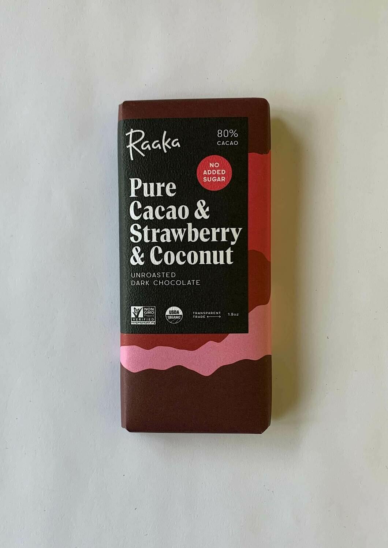 Raaka Stawberry & Coconut Bar