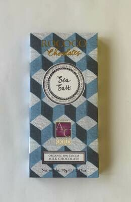 Rococo Sea Salt Organic Milk Chocolate Bar