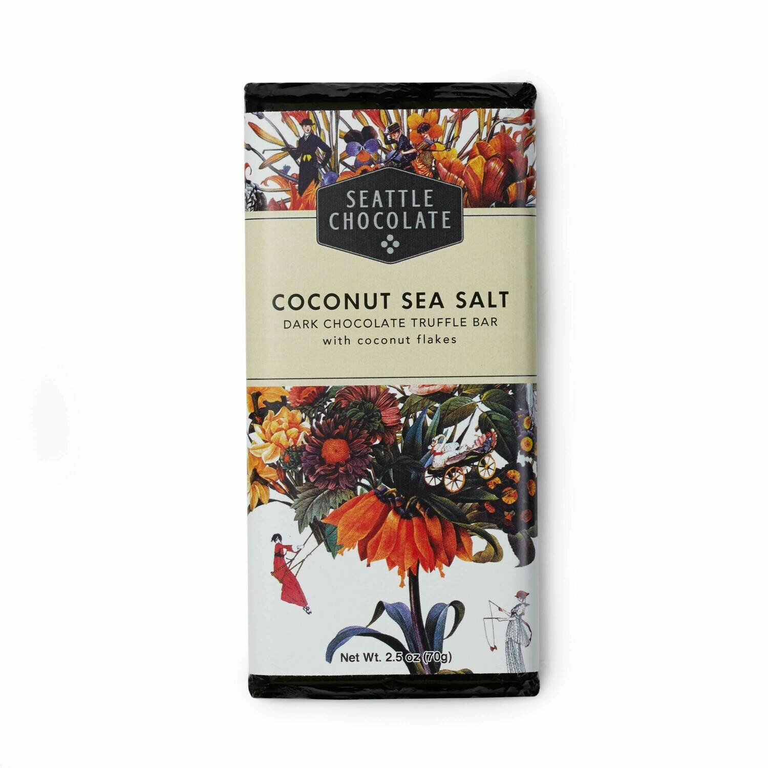 Seattle Chocolates Coconut Sea Salt Dark Chocolate Truffle Bar