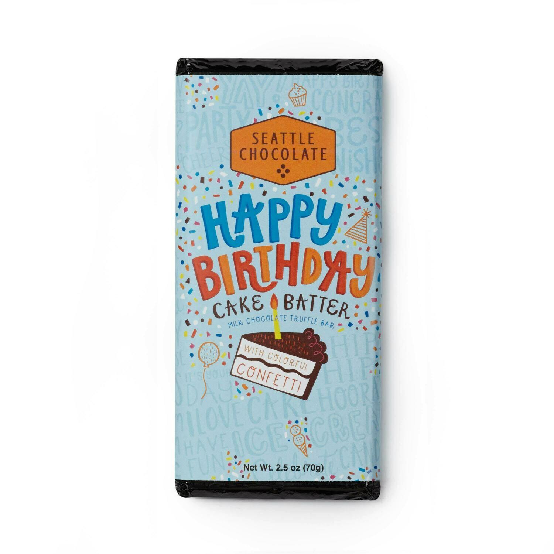 Seattle Chocolate Happy Birthday Milk Chocolate Truffle Bar