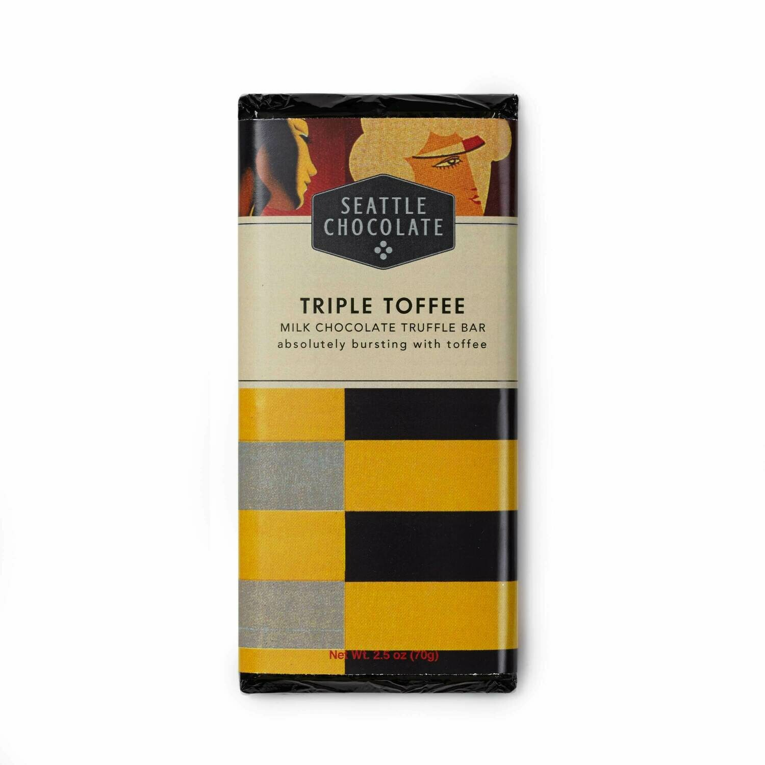 Seattle Chocolates Mk Triple Toffee Truffle Bar