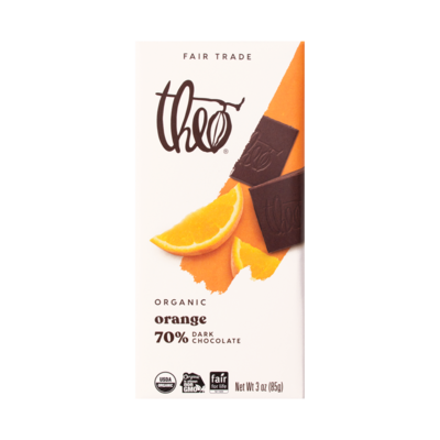 Theo Orange 70% Dark Chocolate Bar