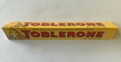 Toblerone Swiss Milk Chocolate Honey & Almond Nougat Bar