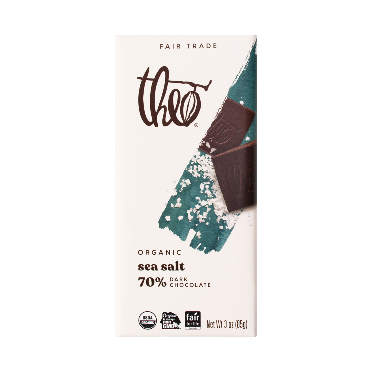 Theo Sea Salt 70% Dark Chocolate Bar