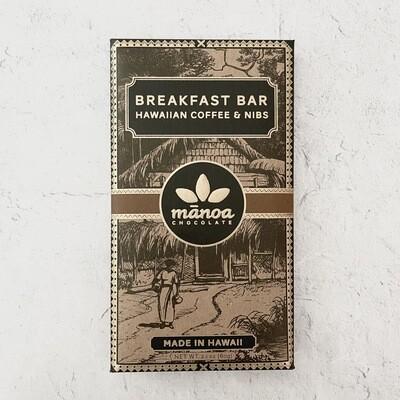Manoa Breakfast Bar Coffee & Nibs 60%