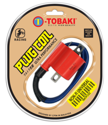 TOBAKI RACING PLUG COIL NON-FUEL INJECTION UNIVERSAL