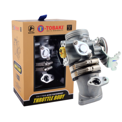 TOBAKI RACING THROTTLE BODY /W INLET PIPE RACING Y15ZR | MX KING | EXCITER150 | SNIPER150
