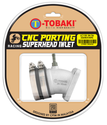 TOBAKI RACING CNC PORTING INLET PIPE(SQUARE)