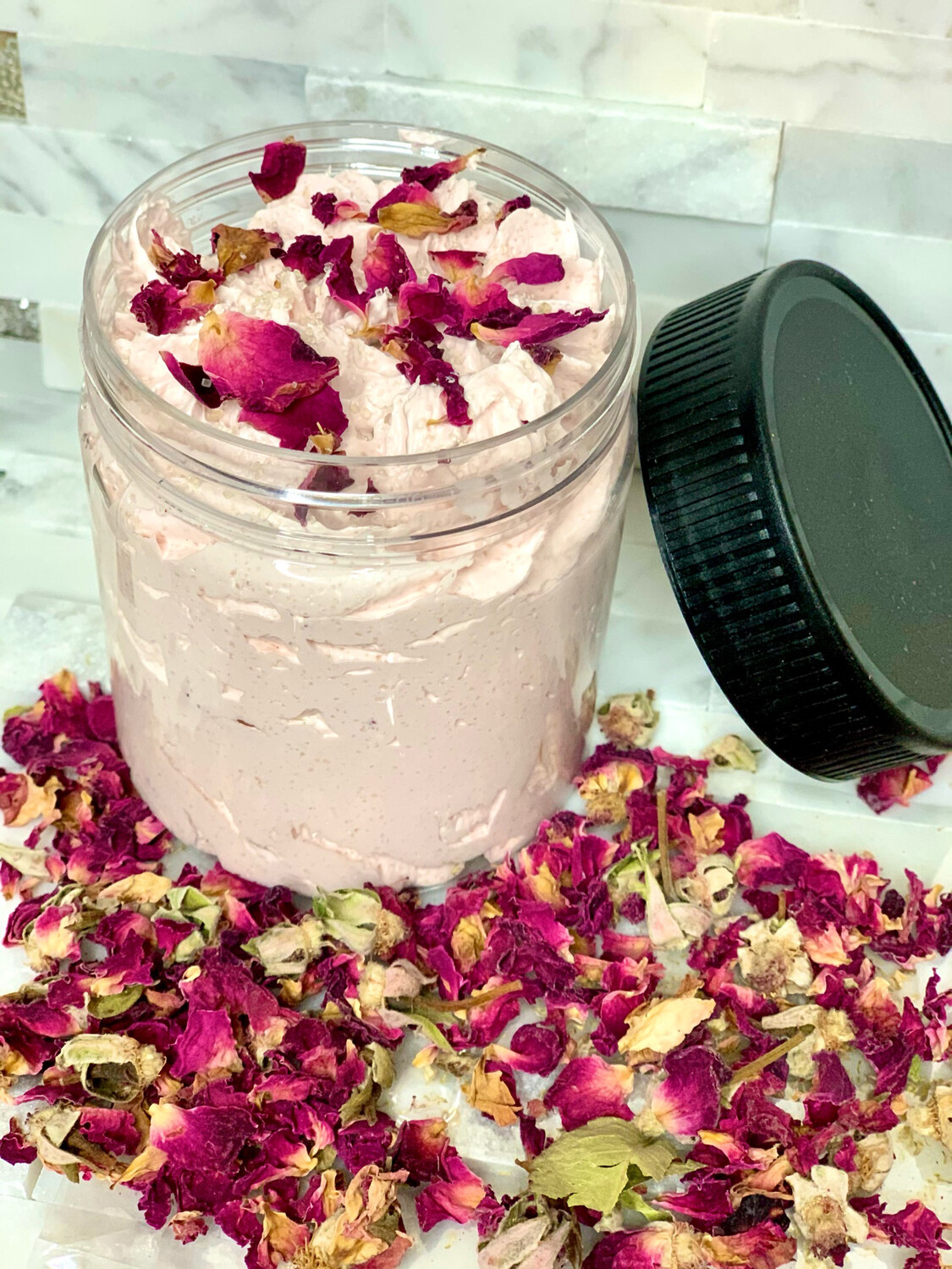 Fallen Rose Whipped Soap Sugar Scrub