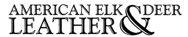 American Elk & Deer Leather