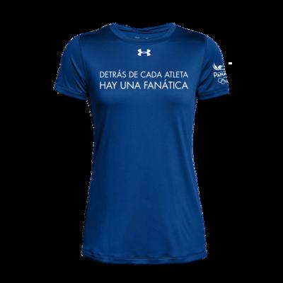 Tshirts Fanático - Dama - Azul Royal