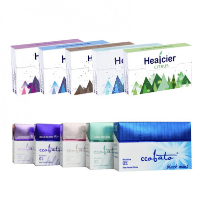 Tasting set HEALCIER / CCOBATO, 10 Packs/ 200 Sticks for IQOS and Lil SOLID devices