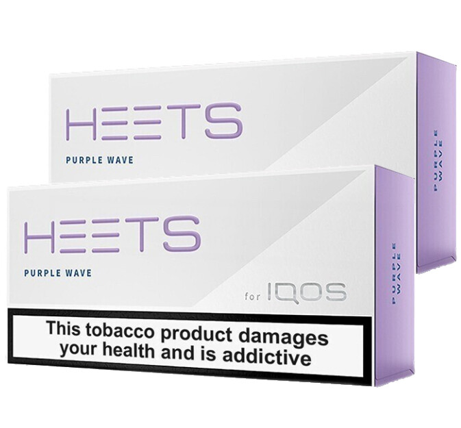 Purple Wave HEETS, 20 Packs/ 400 Sticks for IQOS and Lil Solid