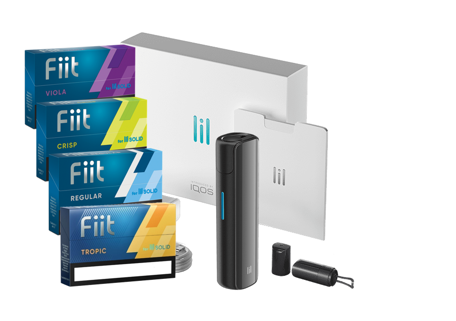 Lil Solid 2.0, Stone Grey + 4 Packs of Fiit (80 sticks)