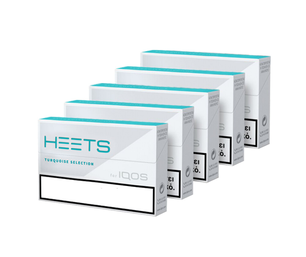 Turquoise Selection / Label HEETS, 5 Packs/ 100 Sticks for IQOS and lil Solid