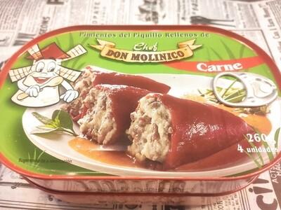 Pimientos rellenos de carne don Molinico