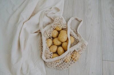 Cotton net shopping bags, each