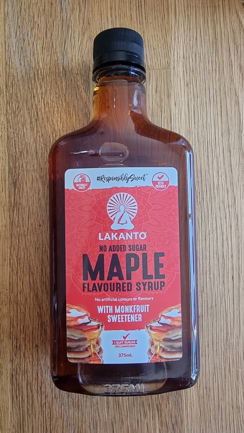 Monk fruit maple flavoured syrup
