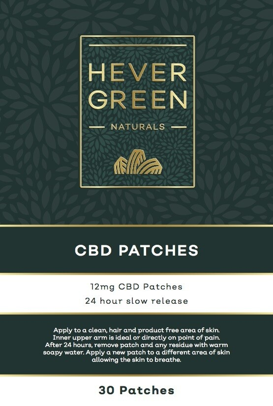 CBD Slow Release 12mg transdermal patches