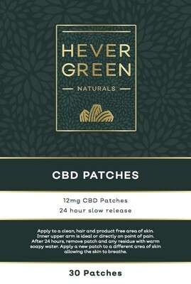 CBD Slow Release 12mg transdermal patches 0% THC