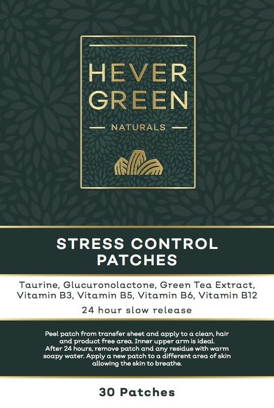 Stress control transdermal patches