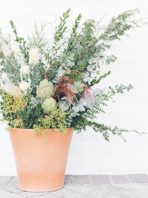 Outdoor Seasonal Planter Arrangement