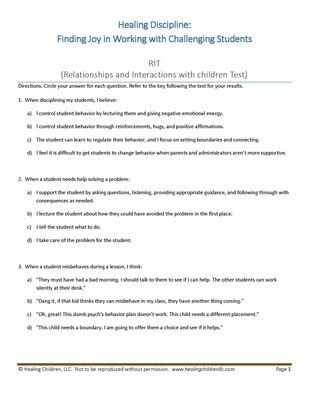 Relationship Interaction Style Test License to make copies