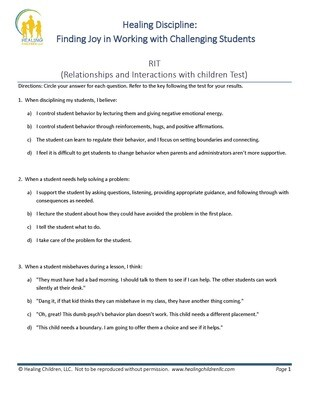 Relationship Interaction Style Test